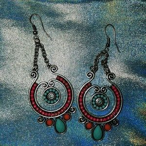 Jewelry - Multicolored Long Earrings